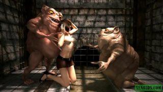 Hutts in Prison. 3D monster sex