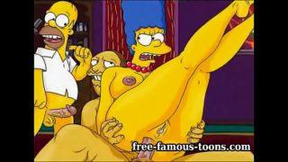 Mature Marge Simpson cheating hentai