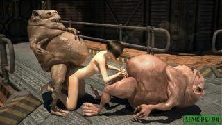 Messy Goblin Sperm. Sci-Fi 3D porn