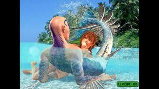Triton loving. 3D Fantasy Porn