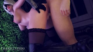 2B Night Sex in Abandoned Building