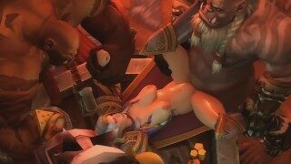 World of Warcraft Porn! Jaina gets fucked by Orcs